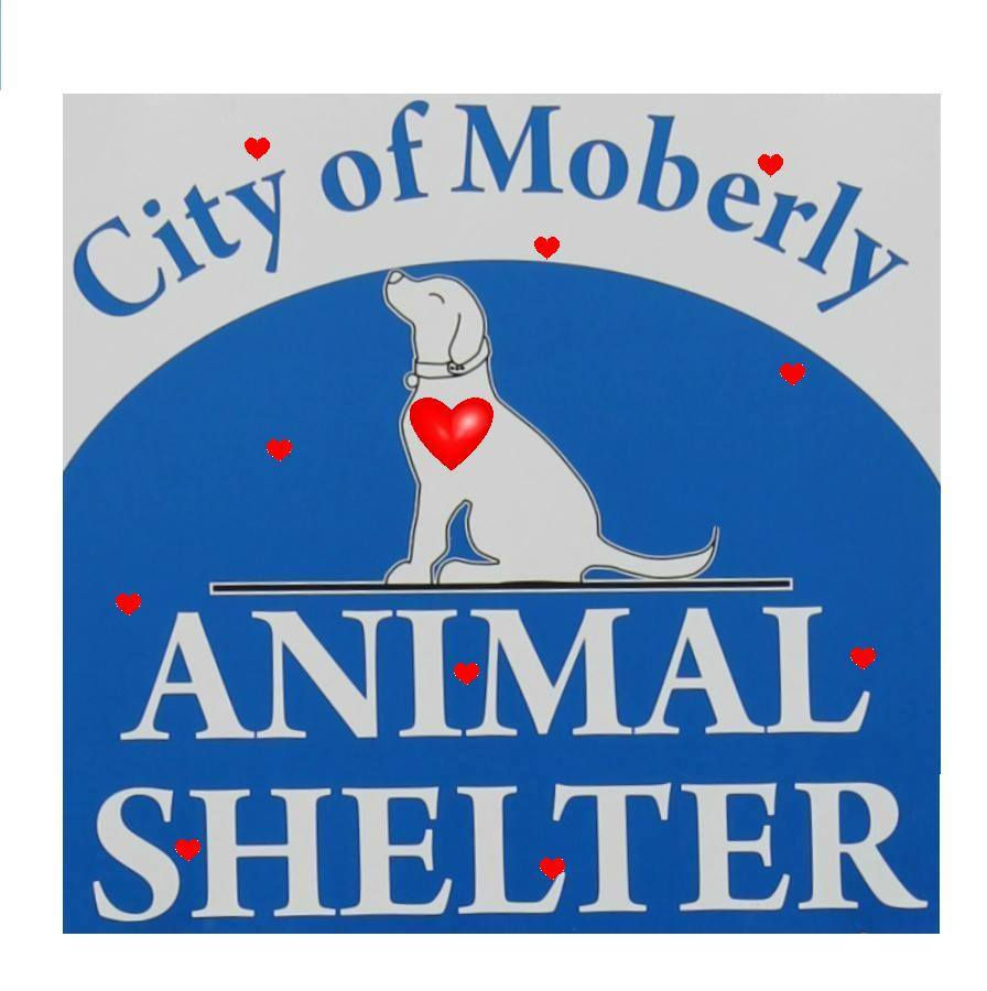 image of moberly animal shelter logo with hearts